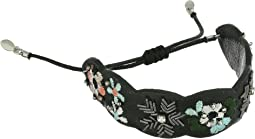 Rebecca Minkoff - Floral Embroidery Guitar Strap Pulley Bracelet