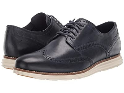 Cole Haan Original Grand Shortwing (Navy Leather/Ivory) Men