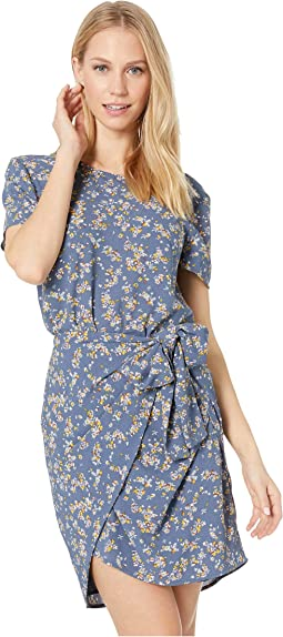 Short Sleeve Heritage Bouquet Tie Front Dress
