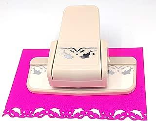 Kucaa Handmade Scrapbooking Edge Puncher Fancy Border Punch S Heart Dolphin Design DIY Paper Cutter (Dolphins)