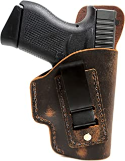 Kimber Micro 9mm Holster - Concealed Carry - Soft Sided Leather Inside the Waistband (IWB) Concealed Carry Holster - IWB Leather Holster - Micro 9 Holster - CCW Holster - Leather Holster - Made in USA