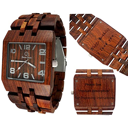 c548ccd913 Wood Watch - Wooden Watch - Men s Style Omega I Rose Wood Personalized  Engraving Available for