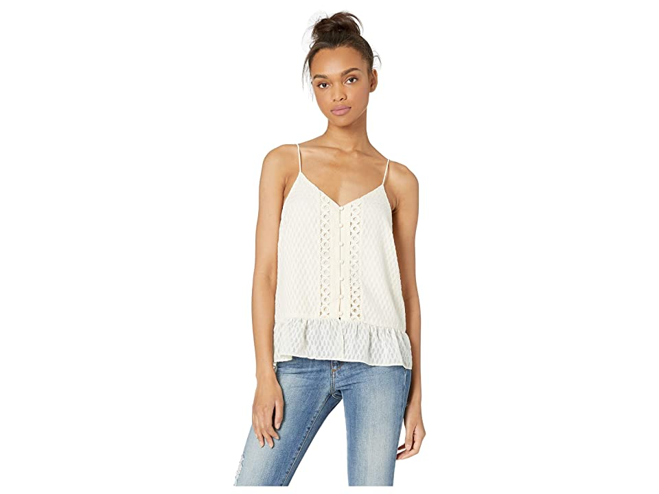 Miss Me Lace Texture Cami (Cream White) Women