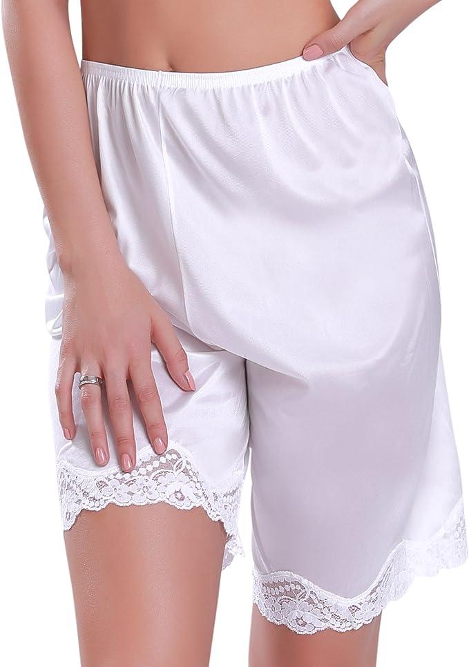 1920s Lingerie History- Underwear, Slip, Bra, Corset Ilusion 1037 - Womens Lace Edge Bloomer Pettipant Slip $9.00 AT vintagedancer.com