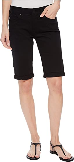 Karly Mid-Rise Bermuda Shorts in Black Nolita