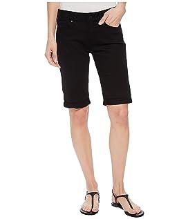 Karly Mid-Rise Bermuda Shorts in Black Nolita