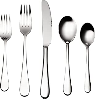 Bruntmor, ALBA Silverware Royal 45 Piece Flatware Cutlery Set, 18/10 Stainless Steel, Service for 8 w/Serving Pieces