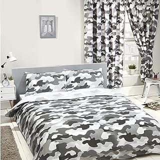 Price Right Home - Juego de Funda de edredón y Funda de Almohada, diseño de Camuflaje Gris