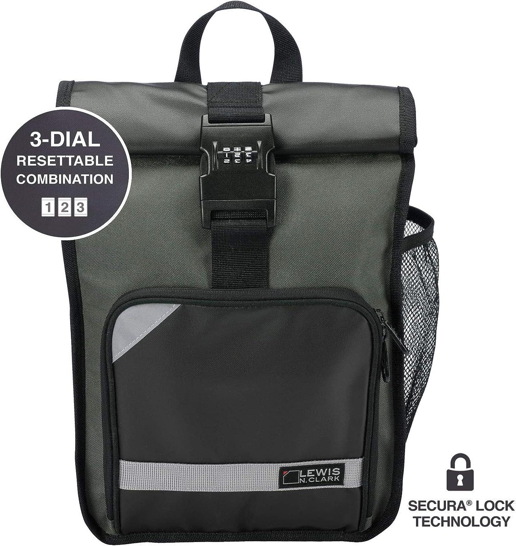 Lewis N. Clark Locking Day Luxury Pack + Digit Laptop Bag Sling with 3 mart