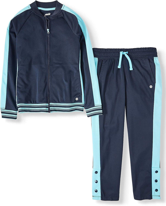 Avia Girls 2-Piece Pants & Jacket Performance Athletic Track Suit (Blue Cove)