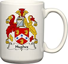 Hughes Coat of Arms/Hughes Family Crest 15 Oz Ceramic Coffee/Cocoa Mug by Carpe Diem Designs, Made in the U.S.A.