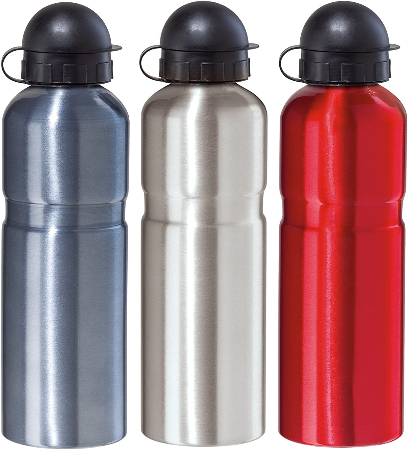 Oggi Stainless Steel Lustre Sports Bottle .75 Liter   25 Ounce with Locking Pull Out Drinking Spout, blueee
