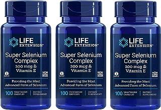 Super Selenium Complex 200 mcg & Vitamin E, 100 Vegetarian Capsules-Pack-3