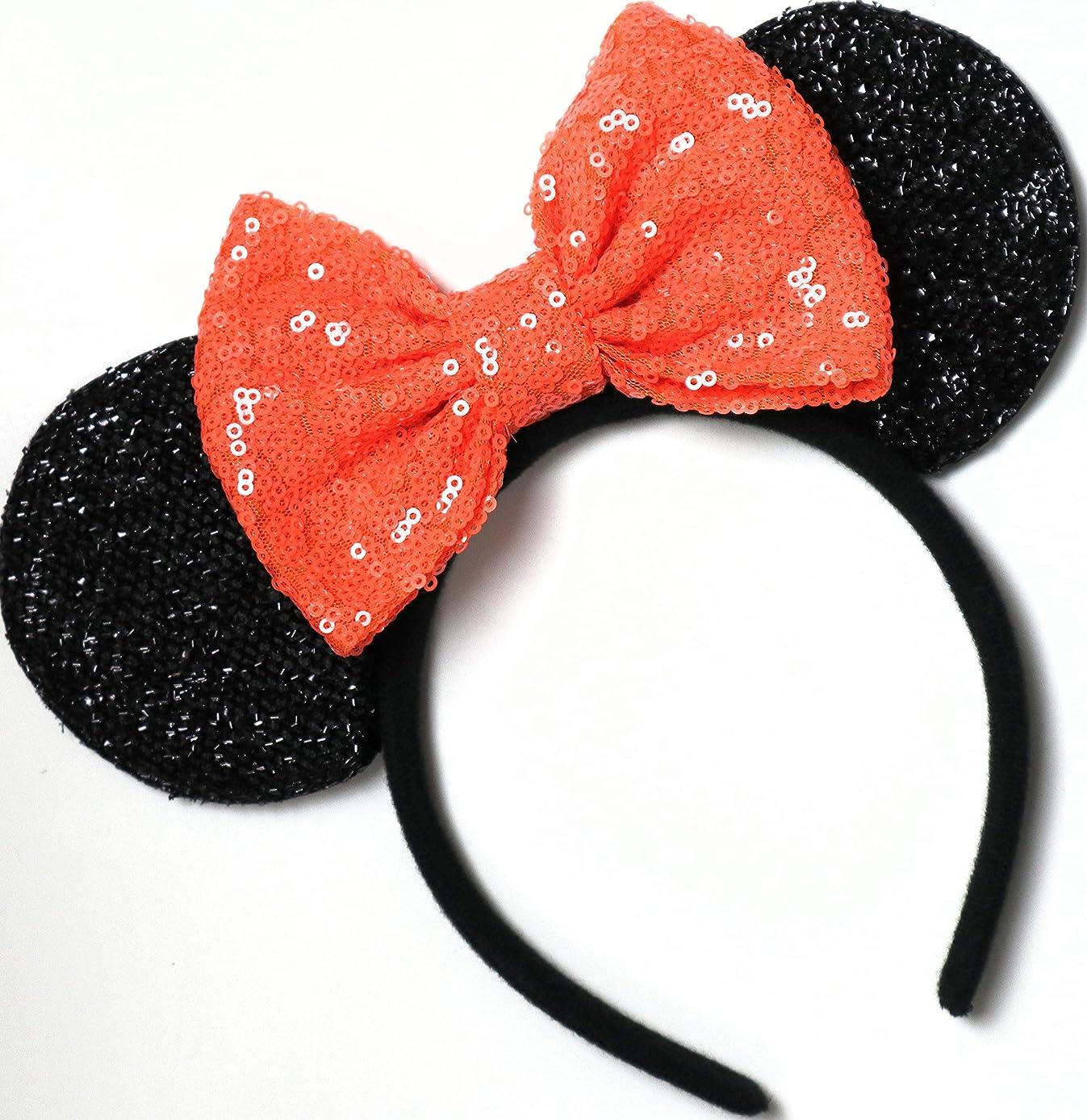 Halloween Orange Mickey Ears, Halloween Orange Minnie Ears, Mickey Ears, Halloween Disney Ears, Halloween Minnie Ears,
