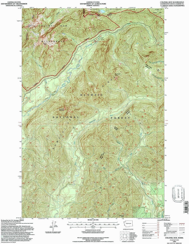 Colonel Bob WA topo map, 1 24000 Scale, 7.5 X 7.5 Minute, Historical, 1995, Updated 1997, 27 x 22.2 in