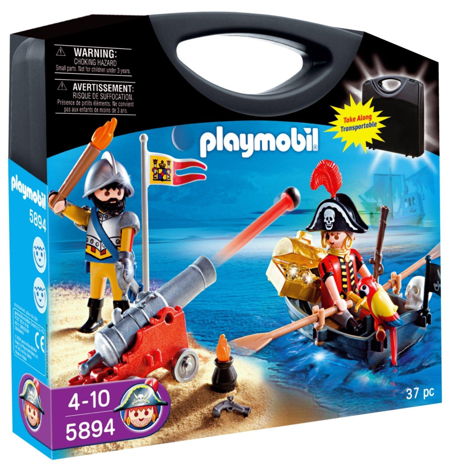 PLAYMOBIL - Piratas, Maleta (58940): Amazon.es: Juguetes y juegos