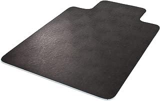 Deflecto EconoMat Black Chair Mat, Low Pile Carpet Use, Rectangle With Lip, Straight Edge, 45 x 53 Inches (CM11232BLKCOM)