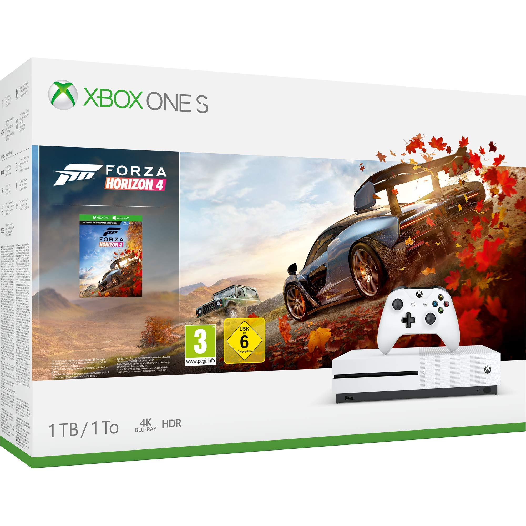 Microsoft Xbox One S - Consola 1 TB + Forza Horizon 4: Microsoft: Amazon.es: Videojuegos