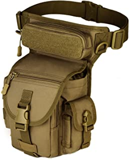 Protector Plus Tactical MOLLE Drop Leg Bag Panel Utility Pouch Bag Cross Over Leg Rig Versipack Thigh Pack Military