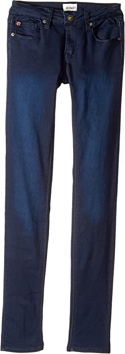 Hudson Kids - Collin Skinny Fit Five-Pocket French Terry in Canal Blue (Big Kids)