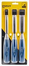 Stanley 3 Pieces Blue Handle Wood Chisel Set 12, 18, 25mm - 0-16-128