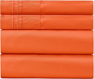 Sweet Sheets Bed Sheet Set - 1800 Double Brushed Microfiber Bedding - 4 Piece (Full, Persimmon)