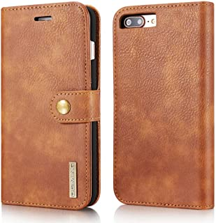 SHUANGRUIYUAN Retro Luxury Split Type Detachable Design Magnetic Flip PU Leather Case Cover with Stand & Card Slot for iPhone 7 Plus/8 Plus 5.5 inch (Color : Brown)