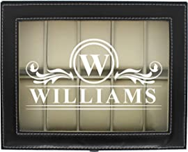 Engraved Watch Box for Men - Personalized Gifts for Him - Custom Husband Boyfriend Gift