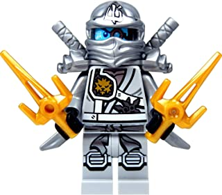 LEGO Ninjago Minifigure - Zane Titanium Ninja with Gold & Silver weapons