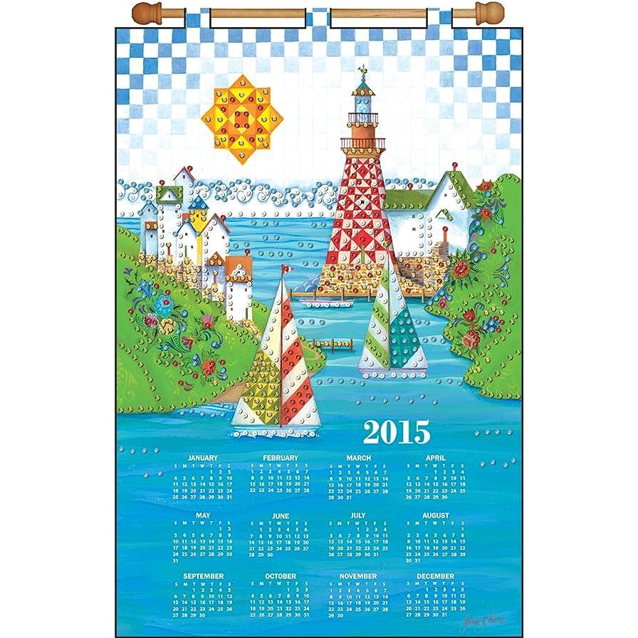 Tobin DW4164 2015 Calendar Felt Applique Kit, 16 by 24-Inch, Sailboats nzg201277379