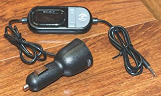 Belkin TuneCast in-Car 3.5mm Aux Audio to FM Transmitter - Black