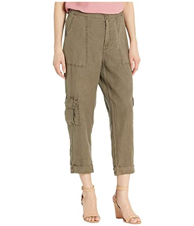 XCVI Soft Utility Cargo Pants in Linen (Sphinx Pigment) Women