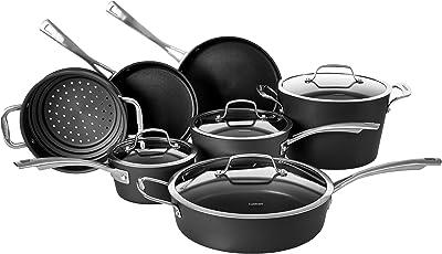 Cuisinart Conical Hard Anodized Cookware Set, Medium, Black