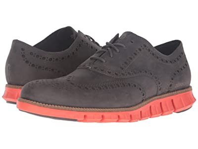 Cole Haan Zerogrand Wing Oxford (Pavement Leather/Spicy Orange) Men