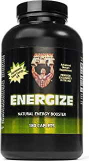 Healthy 'N Fit ENERGIZE 180 Tablets: Natural Guarana Herb - Supports Super Energy, Enhanced Mood, and Cognitive Function. ...