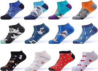 WeciBor, Calcetines cortos Mujer Estampados Mujer Ocasionales Calcetines Divertidos Impresos de Algodón de Pintura de Arte Calcetines Verano Tobillo Calcetines de Colores de moda
