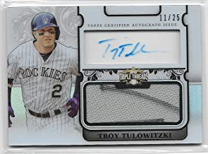 2014 Triple Threads Baseball Troy Tulowotzki Transparencies Auto Jersey Card # 11/25
