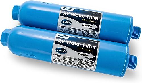 Camco 40045 TastePURE Inline RV Water Filter, Greatly Reduces Bad Taste, Odors, Chlorine and Sediment in Drinking Wat...