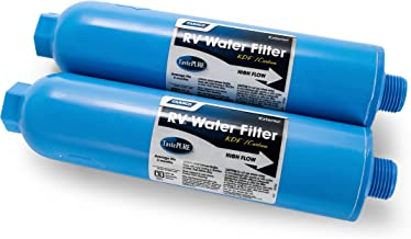 Best Camco 40045 TastePURE Inline RV Water Filter, Greatly Reduces Bad Taste, Odors, Chlorine and Sediment in Drinking Water (2 Pack) Review