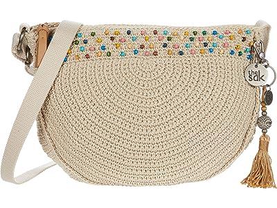 The Sak Ryder Crochet Crescent Crossbody (Ecru Multi Beads) Handbags