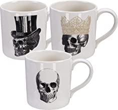 Homelab | Motief Skull | 3 kopjes set 9,3 cm, Ø 9 ...