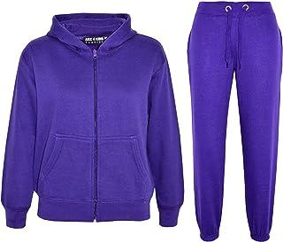 A2Z 4 Kids® dres treningowy dla dzieci, dziewcząt, chłopców, jednokolorowy, z topem i spodniami, strój do joggingu, dla dz...
