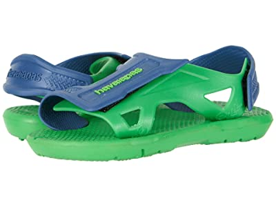 Havaianas Kids Move Sandals (Toddler/Little Kid/Big Kid) (Neon Green) Boys Shoes