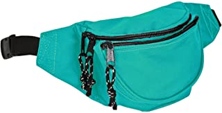 DALIX Fanny Pack w/ 3 Pockets Traveling Concealment Pouch Airport Money Bag