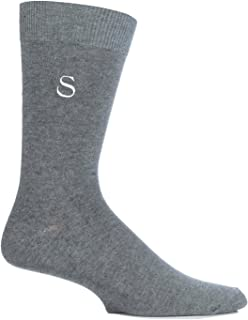 embroidered initial socks