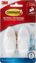Command BATH18-ES Bath Hook with Water-Resistant Strip, Medium, Frosted