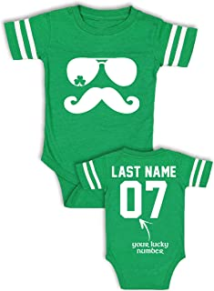68a8152d Babies' Custom Saint Patrick's Day Shirts - Add Your Name & Number - Cotton  Jerseys