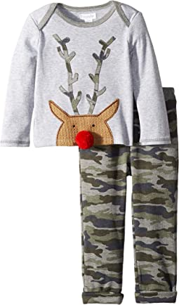 Christmas Camo Reindeer Long Sleeve Two-Piece Set (Infant)