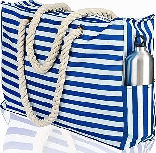 Beach Bag XL. 100% Waterproof (IP64). L22 xH15 xW6. Zipper Closure. Phone Case, Key Holder, Bottle Opener