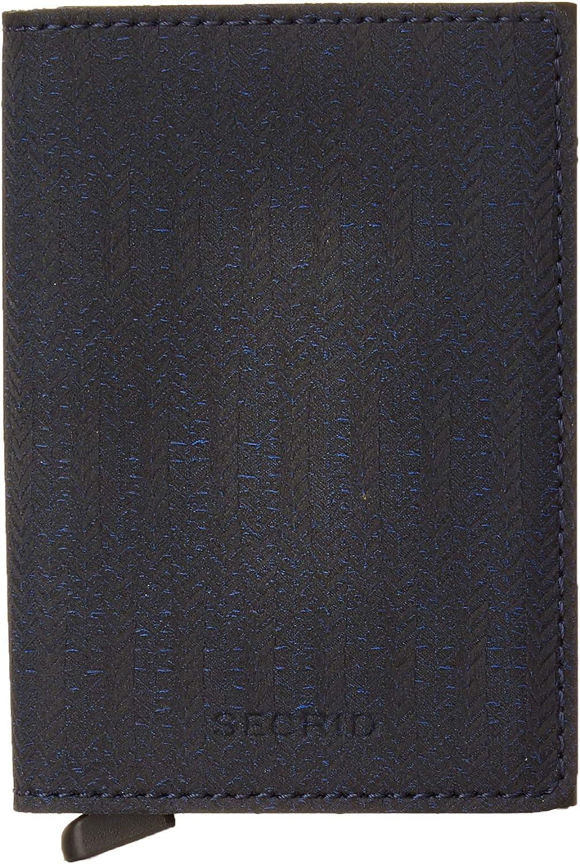 Secrid Slim Wallet Dash Navy Leather RFID Safe Card Case for max 12 cards